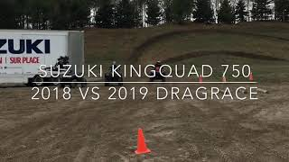 6. Suzuki Kingquad 2019 vs 2018 dragrace