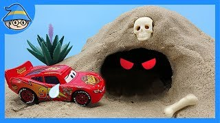 Video Disney Cars Toys Lightning McQueen There is a ghost in the cave! Story of toy ghosts. MP3, 3GP, MP4, WEBM, AVI, FLV April 2018