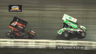 Knoxville Raceway 410 Highlights April 23, 2016