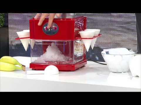 Rosenstein & Söhne Shaved-Ice-Maker mit 4 Eisbechern und Servierhalter