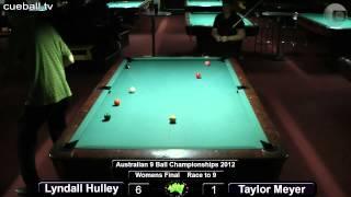 Aus 9 Ball 2012 Womens Final Lyndall Hulley V Taylor Meyer
