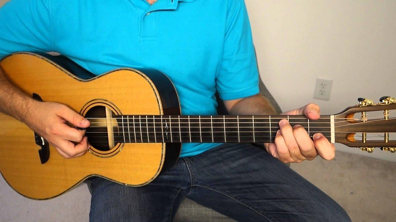 Easy acoustic blues rhythm – guitar lesson.  Very basic – BLG001