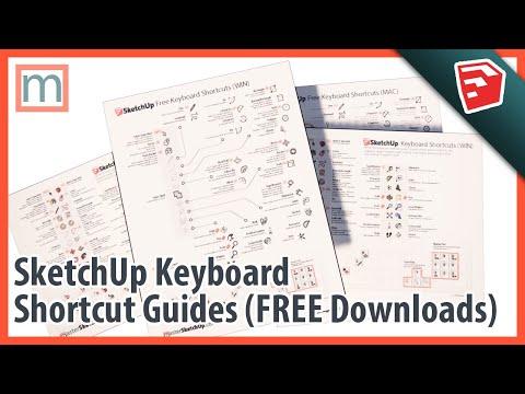 SketchUp Keyboard Shortcut Guides (Mac, PC, SketchUp Free, SketchUp Pro)
