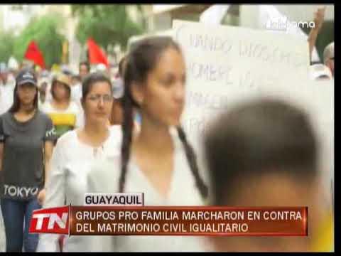 Grupos Pro Familia marcharon en contra del matrimonio civil igualitario