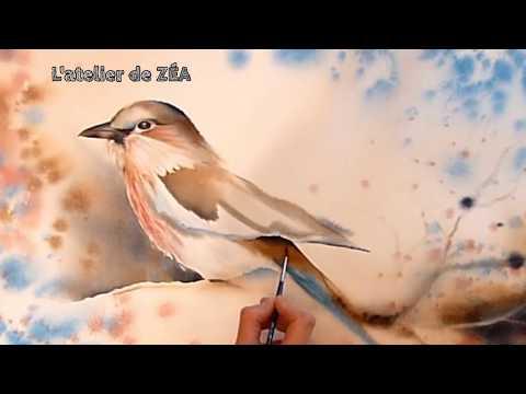 Suluboya Tekniğiyle Kuş Resmetmek