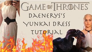 A walkthrough of my Daenerys cosplay, her Yunkai dress is very quick and easy. MATERIALS NEEDED: - 1/2 yard of pleather - 3 yards of white fabric - a collar ...