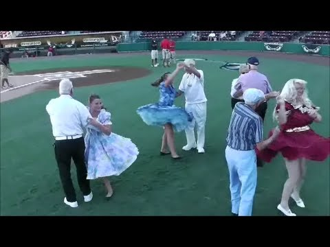 Square Dancing Demonstration Canyon LakeTwirlers at Storm Game