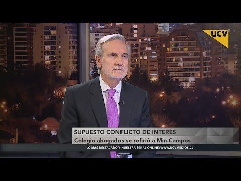 video Colegio de Abogados se refiere a Ministro Campos por supuesto conflicto de interés
