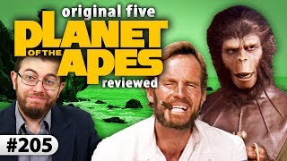 "Episode #205: Planet Of The Apes IJon reviews the original five films in 20th Century Fox's long-running ""Planet Of The Apes"" franchise: the 1968 original starring Charlton Heston; its bizarre and stupid follow-up, ""Beneath The Planet Of The Apes""; the quirky sci-fi time travel story, ""Escape From The Planet Of The Apes""; the pseudo-futuristic rebellion-focused film, ""Conquest Of The Planet Of The Apes""; and the final entry in Caesar's story - ""Battle For The Planet Of The Apes"". VISIT the ""Movie Night Archive"" for individual reviews and trailer commentaries: http://bit.ly/JPMNYT WATCH more full-episodes of ""Movie Night: http://bit.ly/JogJPMNREAD my un-filmed reviews / scripts: http://bit.ly/JPMNNotFilmedFOLLOW me on Letterboxd to see what I'm watching / rating: http://bit.ly/JonLetterboxdTonight's Films:• Planet Of The Apes (1968) - Still remarkable, a true sci-fi milestone, 9/10.• Beneath The Planet Of The Apes (1970) - A pointless repackage of its superior predecessor, 4/10.• Escape From The Planet Of The Apes (1971) - Amusing and thought-provoking picture, 8/10.• Conquest Of The Planet Of The Apes (1972) - A worthy entry with meaningful themes, 6/10.• Battle For The Planet Of The Apes (1973) - Isn't interesting or necessary enough for non-fans, 5/10.Review Next Episode's Films:• Planet Of The Apes (2001)• Rise Of The Planet Of The Apes (2011)• Dawn Of The Planet Of The Apes (2014)• War For The Planet Of The Apes (2017)~~ Movie Night ~~From inside Hollywood's Chinese Theater, film critic Jonathan Paula shares in-depth and spoiler-free movie reviews on everything from new releases to classics from years past. Presented with a polished style, each episode contains three or more reviews centered around a specific theme - with each movie rated on a 1-10 scale. New episodes twice a month, with single-review uploads and trailer reactions also available on the ""MovieNight"" channel.Born in February 1986, Jonathan Paula is a professional YouTuber, creator of ""Is It A Good Idea To Microwave This?"", and founder of Jogwheel Productions - a new media production company. Jon graduated from Emerson College in 2008 with a degree in Television Production / Radio Broadcasting. He currently lives in Rockingham, NH with his wife Rebecca.~~ Jogwheel Shows ~~Movie Night ----------------------- http://bit.ly/JogJPMN The Microwave Show -------- http://bit.ly/JogTMSDon't Eat The Spam ----------- http://bit.ly/JogSpamTech Check ----------------------- http://bit.ly/JogTechGame Time Hangouts -------- http://bit.ly/JogGameJogwheel Originals ------------- http://bit.ly/JogOriginalsRoller Coaster Commotion - http://bit.ly/JogRCCLive Time ---------------------------- http://bit.ly/JogLiveWeird Part Of YouTube ------- http://bit.ly/JogWeird3 Steps To Success ------------ http://bit.ly/Jog3Steps~~ Jon's Other Channels ~~Jon's World (2nd Channel) - http://bit.ly/JonWorldMovie Night Archive ----------- http://bit.ly/JPMNYTThe Microwave Show --------- http://bit.ly/TMSArchiveuStream Live Shows ----------- http://bit.ly/JogLive~~ Social Media & Merch ~~Twitter ------------------- http://bit.ly/JonTWFacebook --------------- http://bit.ly/JonFBFanInstagram --------------- http://bit.ly/JonInstaPatreon ------------------- http://bit.ly/JonPatreonLetterboxd -------------- http://bit.ly/JonLetterboxdT-Shirts ------------------- http://bit.ly/JogStore~~ Technical ~~Created by ------ Jonathan PaulaCamera ----------- Panasonic HMC-150Microphone ----- Sennheiser ME 66Software --------- Adobe Premiere Pro CC 2015Computer ------- http://bit.ly/JonPaulaPC• Jogwheel Productions © 2017 •~"