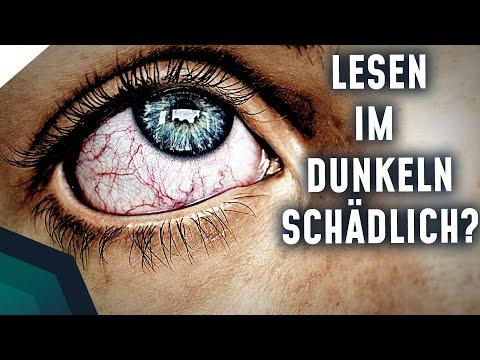 Schadet Lesen im Dunkeln den Augen?