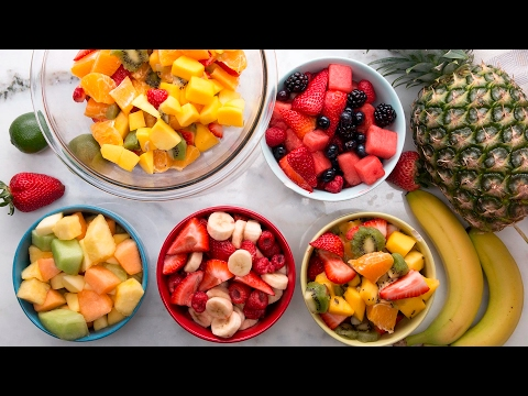 How to make 4 different fruit salads