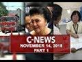 News (November 14, 2018) PART 1