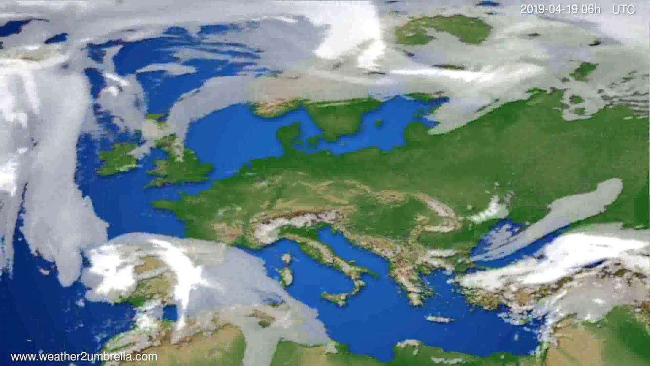 Cloud forecast Europe // modelrun: 00h UTC 2019-04-17