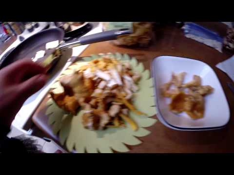 Cooking Chanterelle Mushroom Butter Cream Sauce With German Egg Noodle Pasta