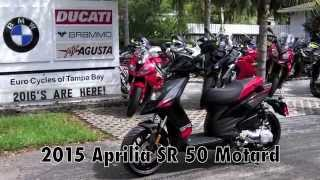 9. 2015 Aprilia SR 50 Motard Scooter at Euro Cycles of Tampa Bay
