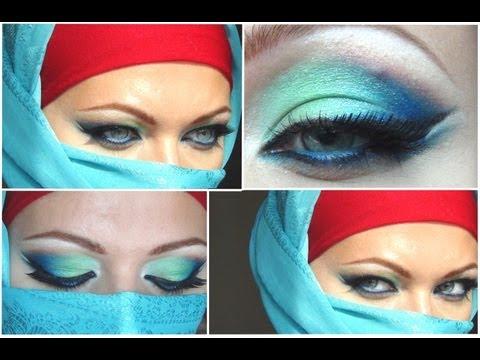 Арабский макияж для нависшего века