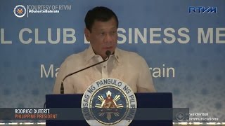 President Rodrigo Duterte has invited Bahraini businessmen to explore business opportunities in the Philippines as their countries enter a new phase in their ...