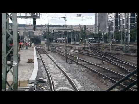 Gleisvorfeldarbeiten | ICE: Hauptbahnhof–Abstellbahnhof