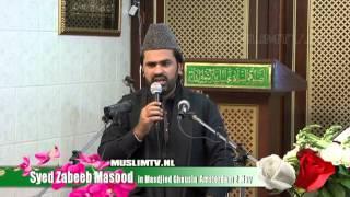 Ghausia--Syed Zabeeb Masood in masdjied Ghausia Amsterdam may 2013