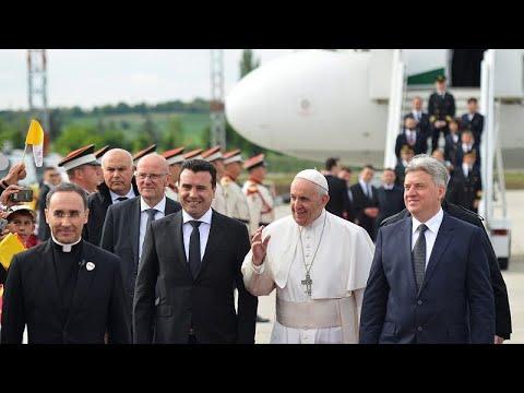 Βόρεια Μακεδονία: Θερμή υποδοχή στον πάπα Φραγκίσκο