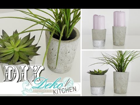 diy blumen bert pfe aus beton selber machen deko kitchen selber machen anleitungen. Black Bedroom Furniture Sets. Home Design Ideas