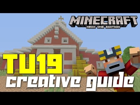 Minecraft Xbox 360/One: TU19 Update – Creative Mode Guide! (Tips w/ New Items!)