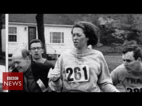 Boston Marathon: Meet the first woman to run it - BBC News