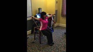 Lateral raise resistance band