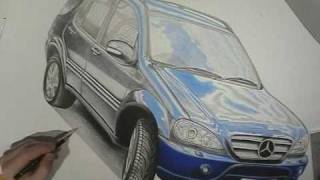 Mercedes ML 400 CDI Speed Drawing