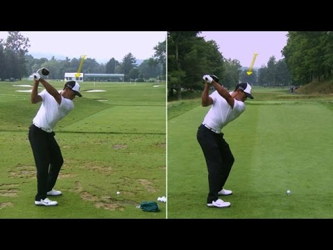 Tiger Woods' side-by-side swing ana …