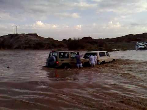 انقاذ عائلة  في سيول بيشة
