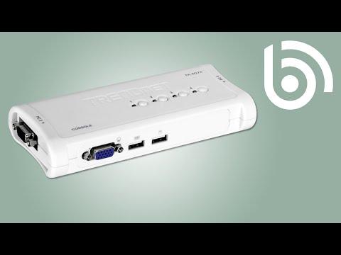 TRENDnet TK-407K 4-Port VGA Audio & USB KVM Switch Kit