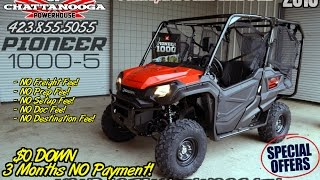 6. 2016 Honda Pioneer 1000-5 Review of Specs - UTV / Side by Side ATV / SxS