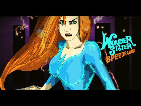 Wonder Sister (Photoshop Speed Drawing)