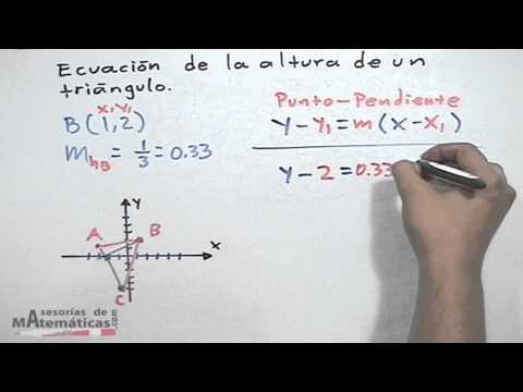 Gleichung - Höhe in einem Dreieck - HD