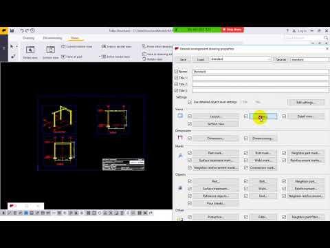 Tự học Tekla Structures 2018 - Bản vẽ GA