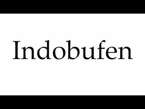 How to Pronounce Indobufen
