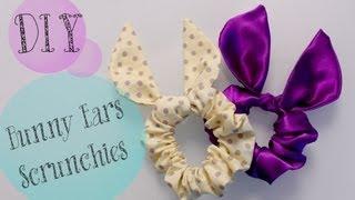 DIY TopShop Bunny Ears Scrunchie {Cute gift Ideas} | ANNEORSHINE - YouTube