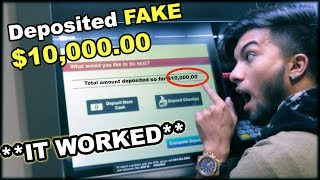 Video DEPOSITED FAKE $10,000 In A BANK **not clickbait** MP3, 3GP, MP4, WEBM, AVI, FLV Maret 2019
