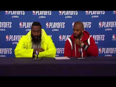 James Harden & Chris Paul Postgame Interview | Rockets Vs Timberwolves - Game 3 | 2018 NBA Playoffs