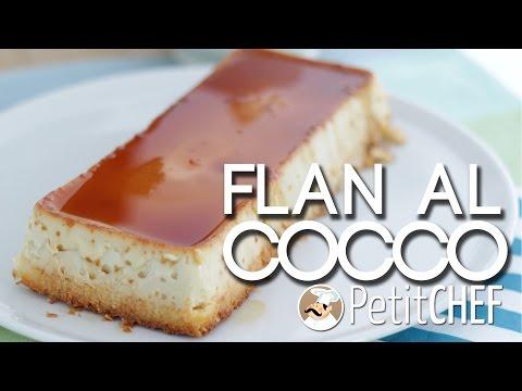 flan di cocco - ricetta veloce e facile