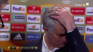 Mourinho's interview after Manchester United win Europa League