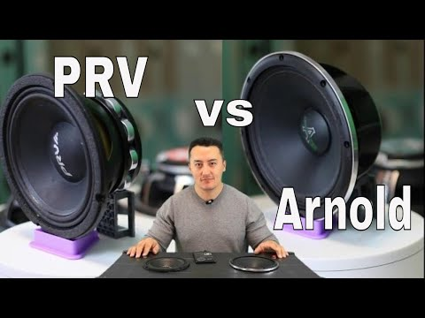 "PRV AUDIO 6MR500-NDY 6.5 VS Deaf bonce Arnold AP-M67AN 6-1/2"" best car audio mid range speakers test"