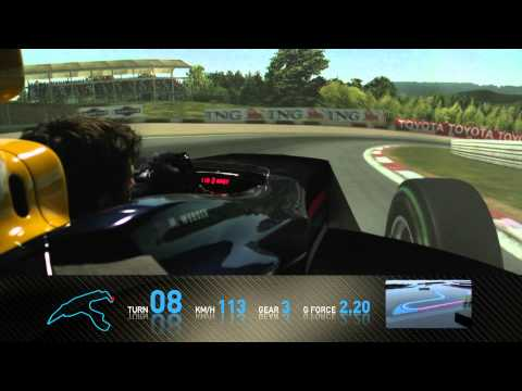 F1 Track Simulator – Mark Webber at Spa