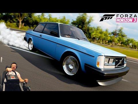 Имба дрифт тачка! Volvo 242 Turbo Evolution Forza Horizon 3 на руле Fanatec CSL Elite