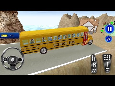 School Bus Simulator 3D Drive Game - High School Bus Racing - Bus Games - Android Gameplay 2019