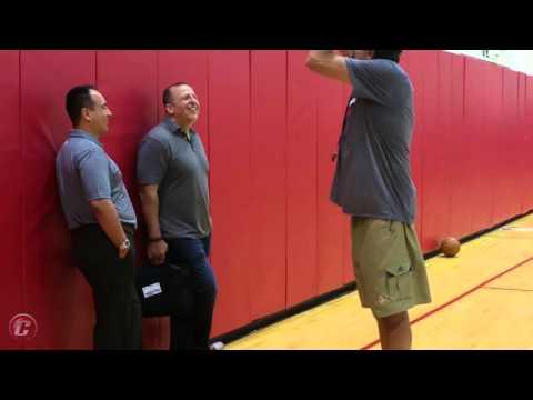 Tom Thibodeau visits Houston Rockets practice