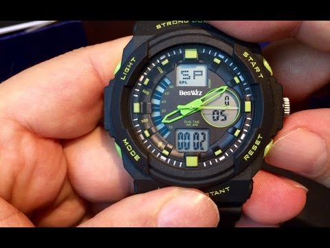 , title : '$12 BesWLZ Multi Function Mens Military DualTime Digital Analog Chronograph Sport Wrist Watch 50M'