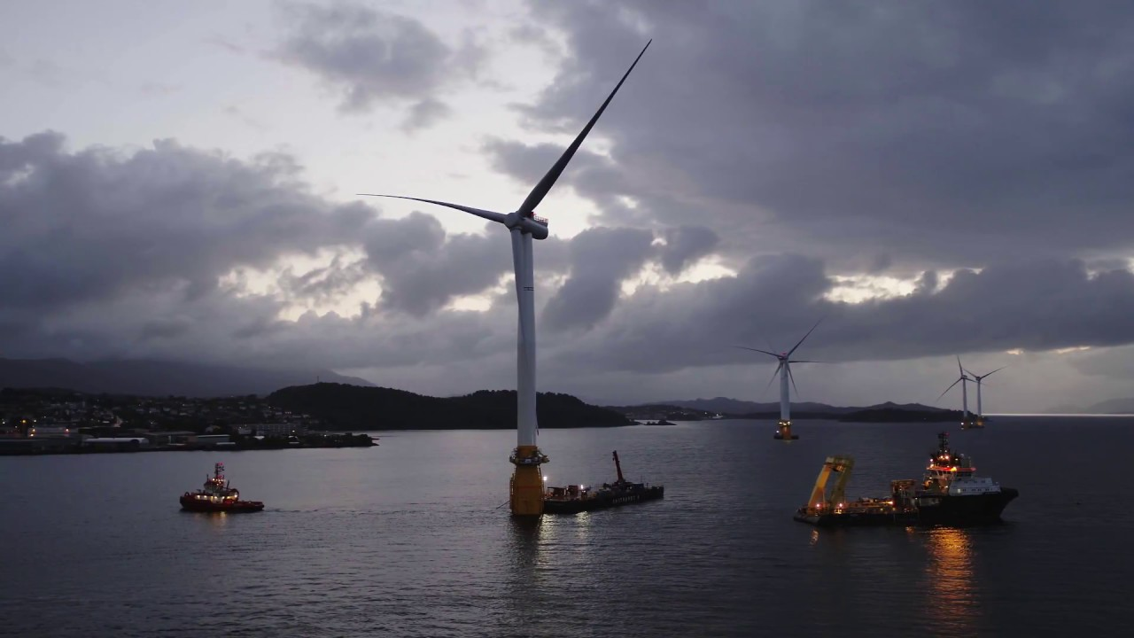Watch a wind turbine sail away