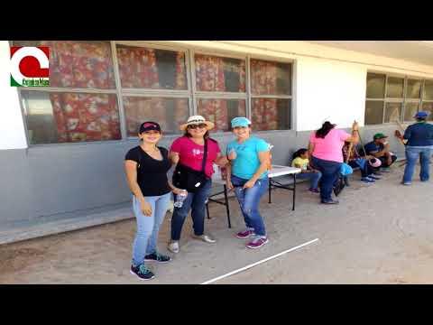 El equipo de Creciendo Con Peñasco lleva acabo campaña de limpieza en la primaria nueva creación